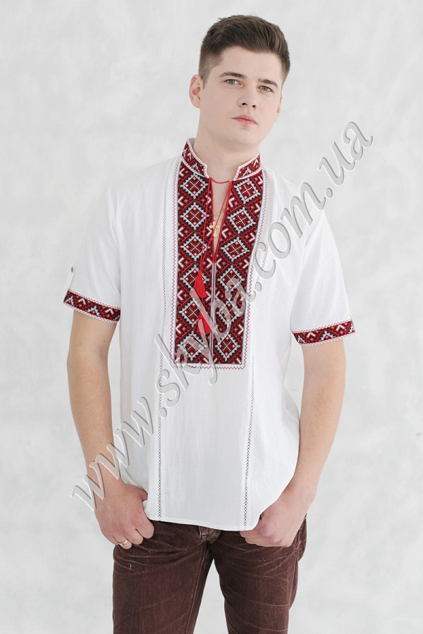 Мужская вышитая рубашка СК1024кр