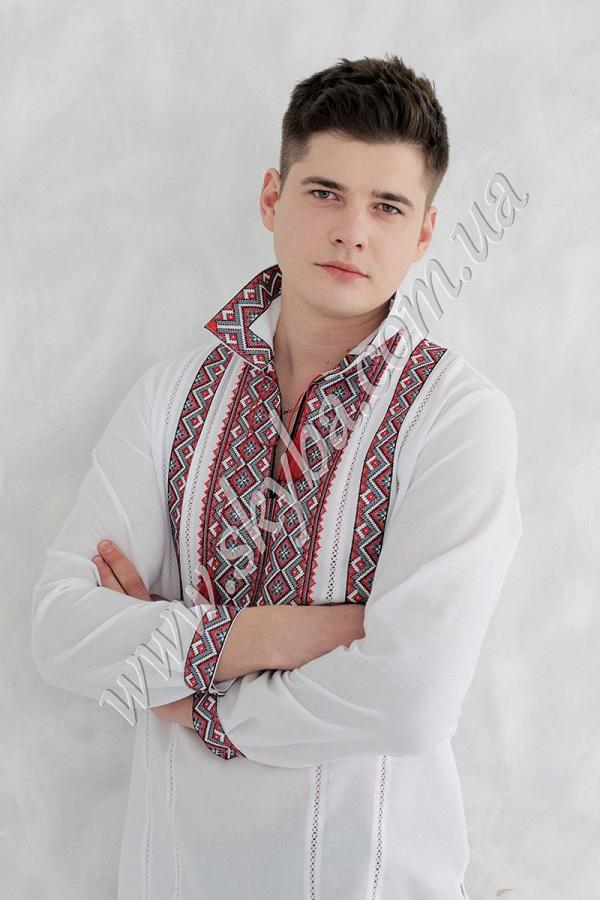 Мужская вышитая рубашка СК1032