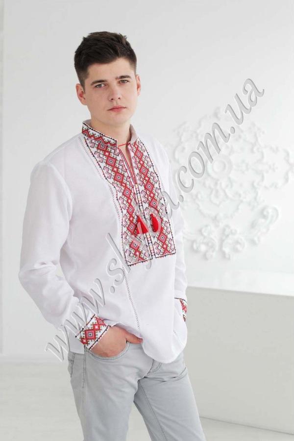 Мужская вышитая рубашка СК1051