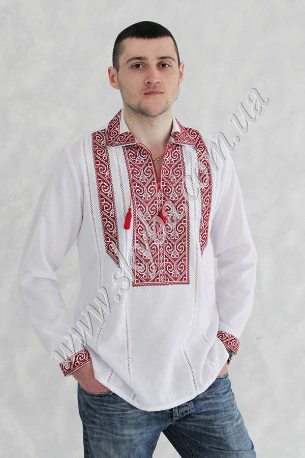 Мужская вышитая рубашка СК1092
