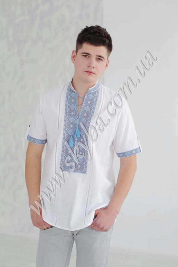 Мужская вышитая рубашка СК1162кр