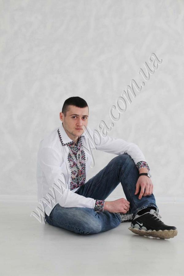 Мужская вышитая рубашка СК1391