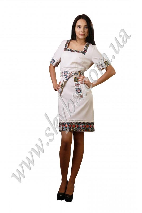 Жіноча сукня СК6032 з геометричними малюнками