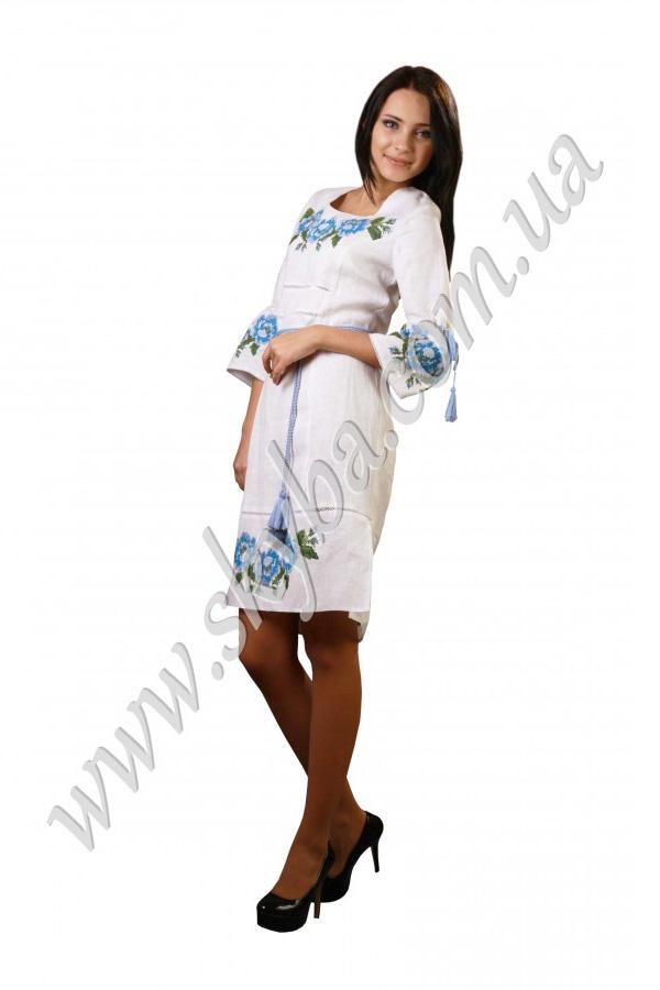 Жіноча сукня СК6041 з рукавом 3/4 та тоненькою мережкою