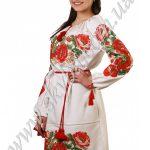 Женское платье СК6101 с длинным рукавом и массивной вышивкой