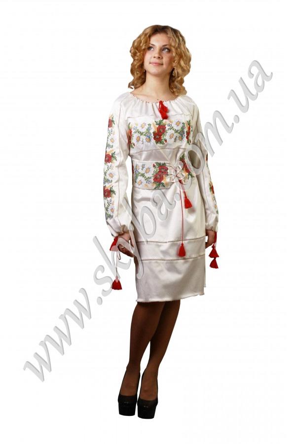 Женское платье СК6121 на дллинный рукав с поясом-корсетом