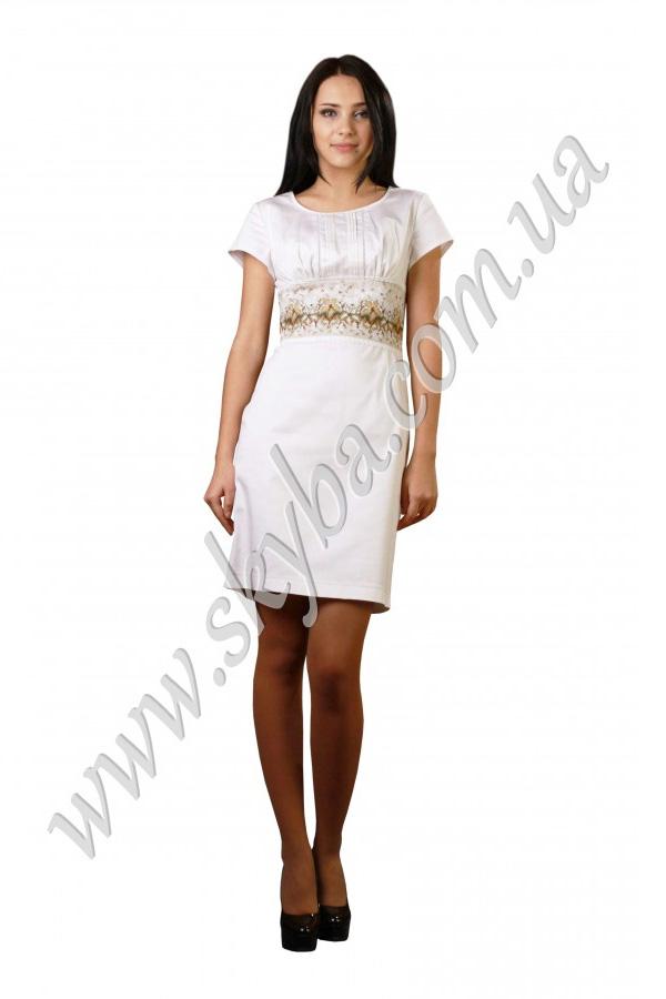 Женское платье СК6133 с широким вышитым поясом
