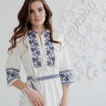 """Женское платье СК6173 с орнаментом """"виноградная лоза"""""""