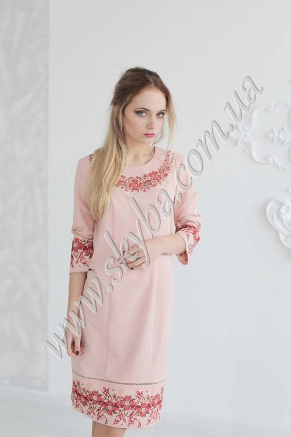 Женское платье СК6303 с дизайнерской вышивкой