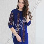 Жіноча сукня СК6341 з рясною вишивкою на рукавах