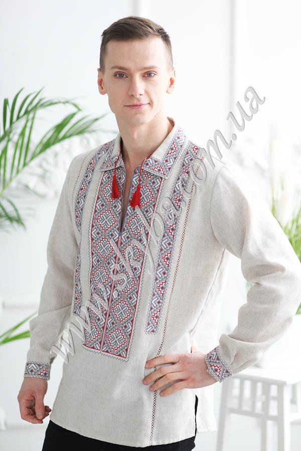 Мужская вышитая рубашка СК1022М