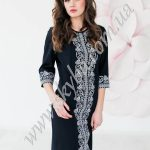 Женское платье СК6333 с расширенными к низу рукавами