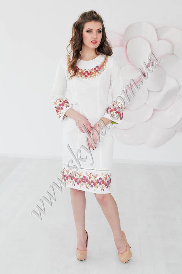 Жіноча сукня СК6303 з дизайнерською вишивкою
