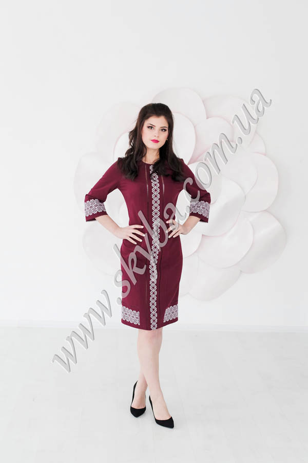 Женское платье СК6062 комбинированное в двух цветах