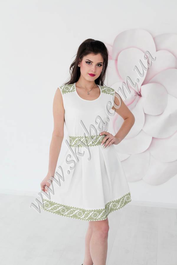 Жіноча сукня СК6332 з геометричною вишивкою