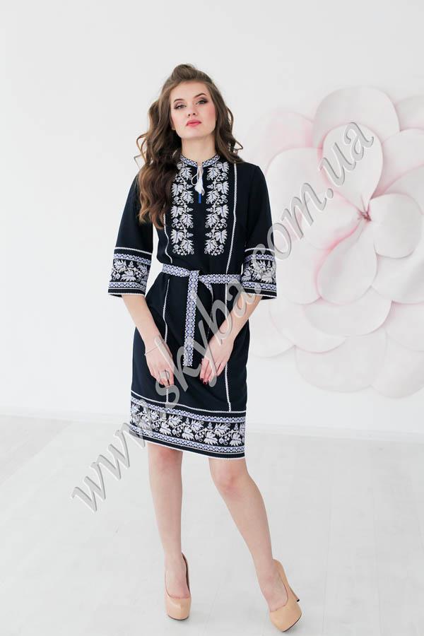 Жіноча вишита сукня з узором виноградної лози та з 3 4 рукавами ... afc4ac5a7d082