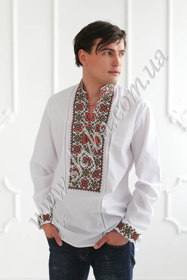 Мужская вышитая рубашка СК1341