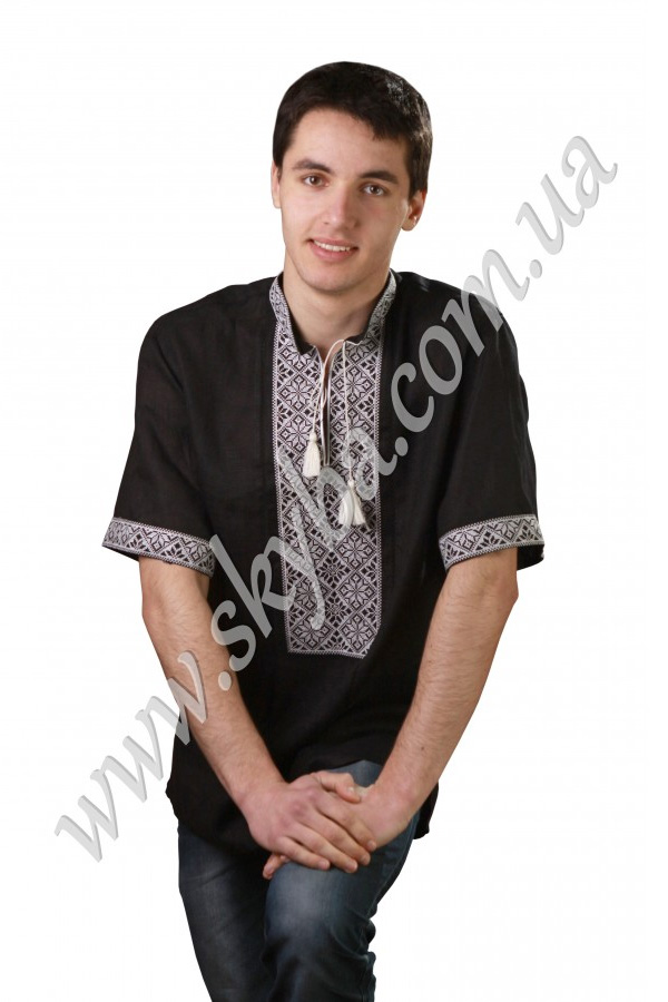 Мужская вышитая рубашка СК1081кр
