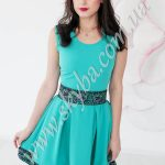 Женское платье СК6393с цветочным узором
