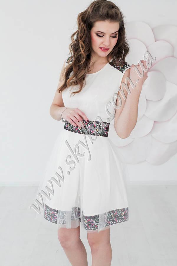 Женское платье СК6394 с юбкой из фатина