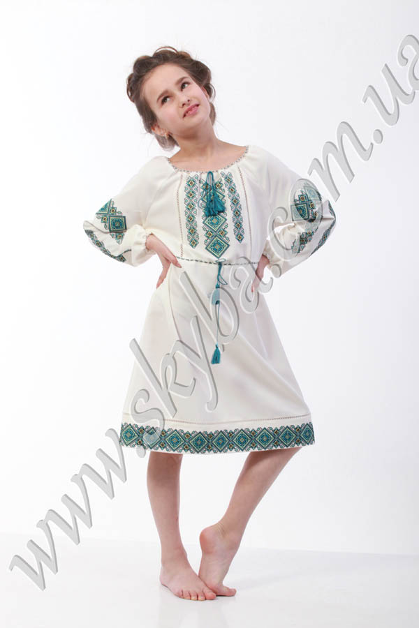 Дитяча сукня на довгий рукав с вишитим орнаментом - купити Львів afd1eb39d69ca
