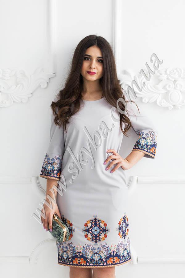 Жіноча вишита сукня з багатою вишивкою на спідниці та на рукавах ... 6ee8e939c893f