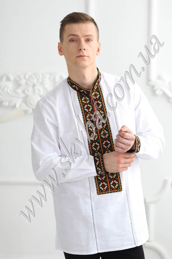 Мужская вышитая рубашка СК1541