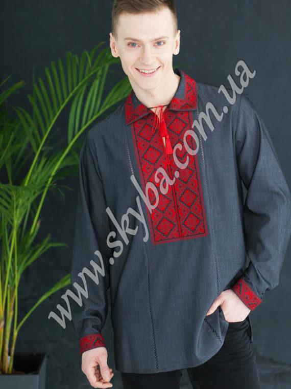 Мужская вышитая рубашка СК1021